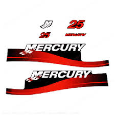 Product Mercury 25hp Decals Red 1999 2006 Blue Sticker Decal