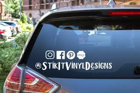 Social Media Decals Follow Us On Decals Facebook Decal Etsy