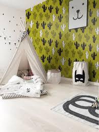 Mexican Cactus Wallpaper Wall Mural In 2020 Green Kids Rooms Kids Room Wallpaper Kid Room Decor