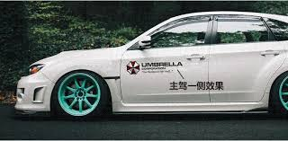 Big Size Car Body Resident Evil Stickers Umbrella Two Side Quote Decal Motorcycle Car Styling Auto Accessories Black White Decals Bumper Stickers Cbib Cl