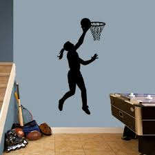 Basketball Girl Layup Wall Decal Girls Sports Bedroom Wall Decor Stickers Ebay