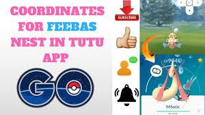 COORDINATES FOR FEEBAS NEST IN POKEMON GO (TUTU APP) - YouTube