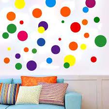 Creative Dots Wall Decals Primary Colors Dots Decals Rainbow Colors Polka Dot Decor Kids Wall Decals Classroom Wall Decals Playroom Wall Decor Walmart Com Walmart Com