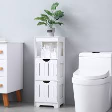 modern bathroom cabinet side storage