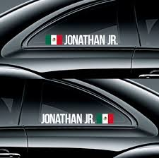 Rnb002 Mexico Racing Custom Name Sticker Flag Decal Drift Classy Stance Fitment