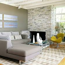 faux stacked limestone over red brick