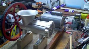 motorized meat grinder more power