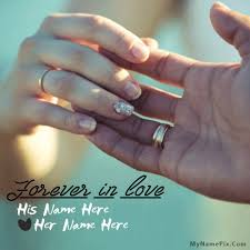 write name on forever in love picture