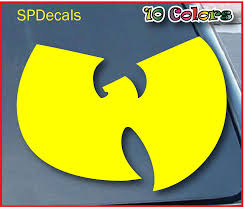 Amazon Com Wu Tang Car Window Vinyl Decal Sticker 4 Wide Color Yellow Automotive