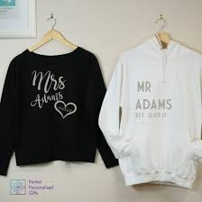 mr and mrs sweatshirt and hoo set