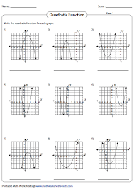 write the quadratic function