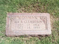 Ava Bell Campbell Culbertson (1914-1953) - Find A Grave Memorial
