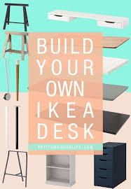 build your own ikea desk petite