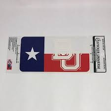 Texas Flag Bu Decal Congress Clothing