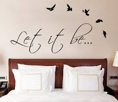 Let It Be The Beatles Music Text Quote Wall Sticker Vinyl Decal For Living Dining Room Or Wall Stickers Bedroom Bedroom Wall Stickers Quotes Bedroom Wall Art