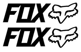 Set Of 2 Fox Racing 6 Vinyl Decal Sticker Cars Atvs Mx Boats Truck Racing Ebay