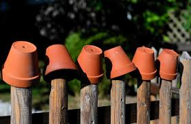 Garden Fence Flower Pots Clay Free Photo On Pixabay