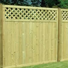 Tongue Groove Boarded Fence Panel Lattice Top Free Delivery Available