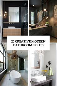 creative modern bathroom lights ideas