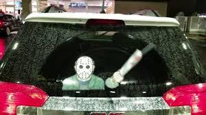 Waving Machete Jason Hockey Mask Killer Wipertag Attach To Rear Vehicle Wiper Wipertags