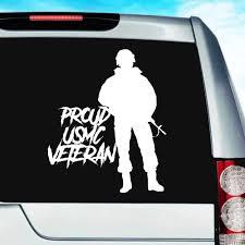 Proud Usmc Marine Soldier Veteran Vinyl Car Window Decal Sticker