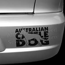 Silhouette Australian Cattle Dog Decal Sew Dog Crazy