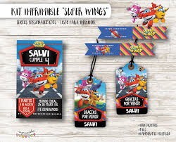 Kit Imprimible Super Wings Textos Personalizados 230 00 En