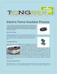 Electric Fence Insulator