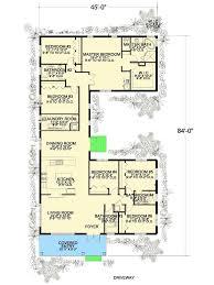 6 bedroom u shaped house plan