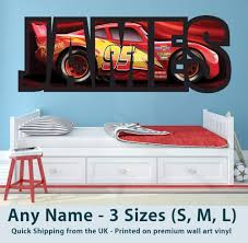 Childrens Wall Sticker Cars Sizes Are Approx As Follows The Length Longest Number Of The Print Is Always T Cars Room Disney Cars Bedroom Disney Cars Room