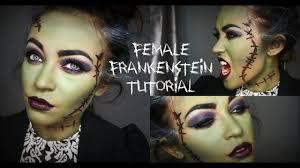 female frankenstein halloween tutorial