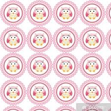 pink owl round label wallpaper pixers