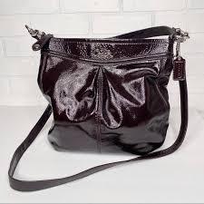 coach bags ashley brown patent hippie