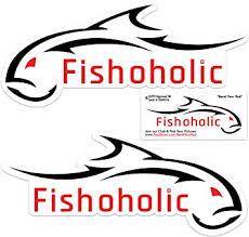 Amazon Com 3 Fishoholic Waterproof Fish Decal Sticker 3 Stickers Total Great Gift For Fishing Fresh Saltwater Ocean Or Put On Window Bumper Boat Coffee Mug For Fishaholic Fisherman 3 Whtred 11x5 Home Improvement