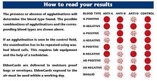 eldoncard blood type test kit blood