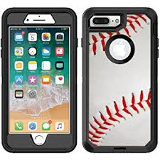 Amazon Com Teleskins Protective Designer Vinyl Skin Decals Stickers Compatible With Otterbox Defender Iphone 8 Plus Iphone 7 Plus Case Baseball Design Patterns Only Skins And Not Case