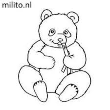 Kleurplaat Panda De Mooiste Kleurplaten Milito Nl