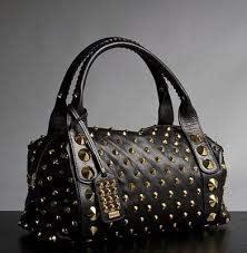 jessica simpson black studded bag