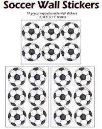 Soccer Ball Wall Decals Fun Sports Decals For Kids Room Walls
