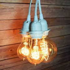 triple socket white pendant light lamp