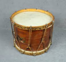 Beautiful Civil War Drum With Round Wood Body American Flag And Spread Eagle Decal Drum Is In Ov