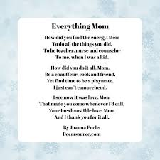 mother poems full of tender love and