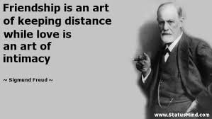 friendship is an art of keeping distance while com