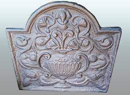 antique cast iron fireback la44882