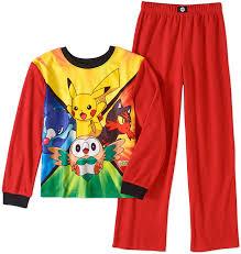 Amazon.com: Pokemon Sun & Moon Boys Poly 2-Piece Pajama Set (14-16 ...