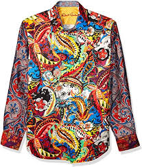 Robert Graham Mens The Conway LMT Ed L/S Woven Shirt Button Down Shirt:  Amazon.ca: Clothing & Accessories