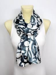 geometric printed scarf autumn fashion