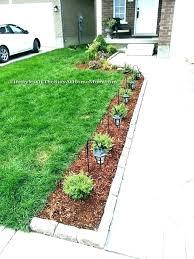 simple landscape design small front