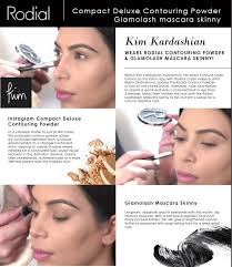 kim kardashian s powder and mascara