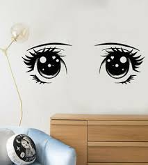 Vinyl Wall Decal Cartoon Anime Girl Big Eyes Stickers 2248ig Ebay